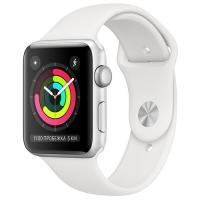 Apple Watch Series 3 GPS, 38mm Silver Aluminium, White Sport Band MTEY2 в Mobile Butik