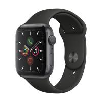 Часы Apple Watch Series 5 44mm Aluminum Case with Sport Band (Серый космос/Чёрный) (MWVF2) в Mobile Butik
