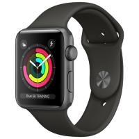 Apple Watch Series 3 42mm Space Gray Aluminum Case with Black Sport Band MTF32 в Mobile Butik