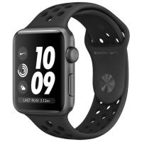 Apple Watch Series 3 38mm Aluminum Case with Nike Sport Band Space Gray/Anthracite and Black MTF12 в Mobile Butik