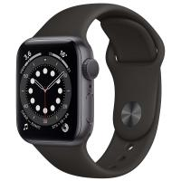 Часы Apple Watch S6 40mm Space Gray Aluminum Case with Black Sport Band (MG133) RU в Mobile Butik