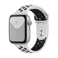 Apple Watch Series 5 GPS 44mm Aluminum Case with Nike Sport Band (Silver/Pure Platinum and Black) MX3V2 в Mobile Butik
