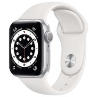 Смарт-часы Apple Watch S6 44mm Silver Aluminum Case with White Sport Band (M00D3) в Mobile Butik