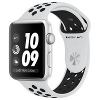 Apple Watch Series 3 42mm Aluminum Case with Nike Sport Band Pure Platinum/Black MQL32 в Mobile Butik