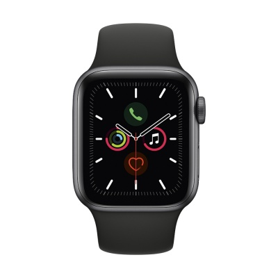Apple Watch Series 5 40mm Aluminum Case with Sport Band (Серый космос/Чёрный) (MWV82) в Mobile Butik