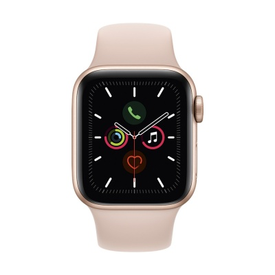 Apple Watch Series 5, 40mm Gold Aluminum, Pink Sand Sport Band MWV72 EU в Mobile Butik